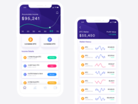 Cryptocurrency App Concept design