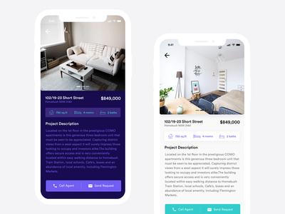 Real Estate App Design Concept