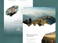 Mountain Trekking Landing page Design