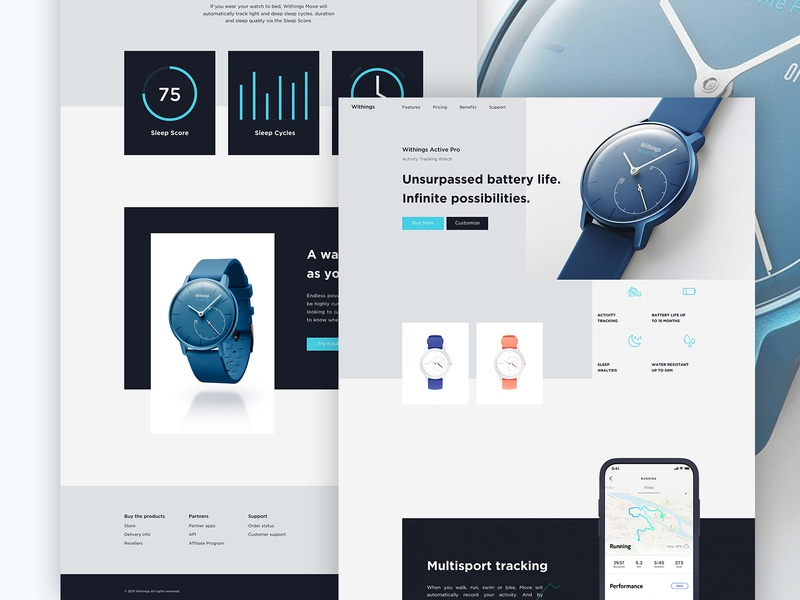 Activity Tracking Watch Website Design landing page examples uxin uiuc website templates website design fitness tracker watchespn watches for women watches for men watches fitness watch smartwatches smart watches android fitness fitbit watch clean ux ui minimal