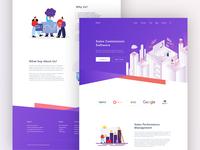 Sale Commission Landing Page Design
