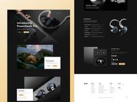 Mezeaudio Earbuds Landing Page Design
