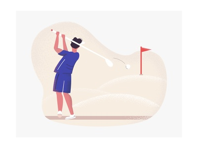 Golfer golfer golf website web ux ui sport app sport character design illustration