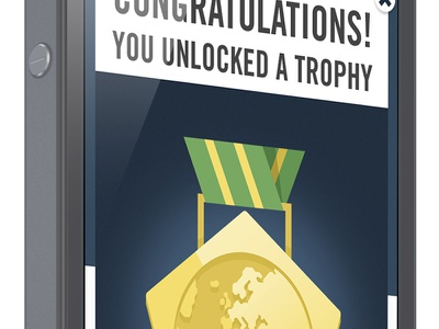 Footbaholic Quiz Trophy Badge ui ux ios iphone trophy badge interface
