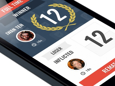 Footbaholic Quiz App Full Time ui ux ios iphone interface app