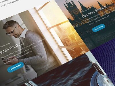Stratton Bank - Solutions UI visual design fintech art direction one page ux ui