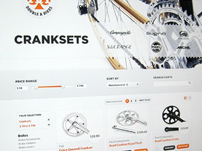 Bike Shop Listings interface ui ecommerce