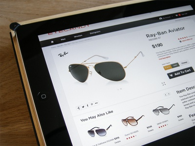 Eyecandy Ray-Ban Detail ui ux ecommerce web interface