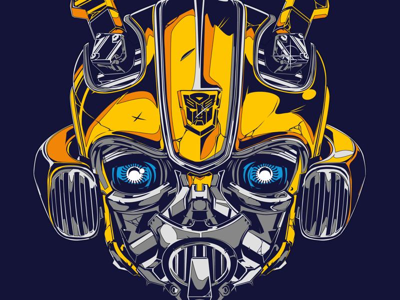 Bumblebee practice illustration vector robot transformer bumblebee