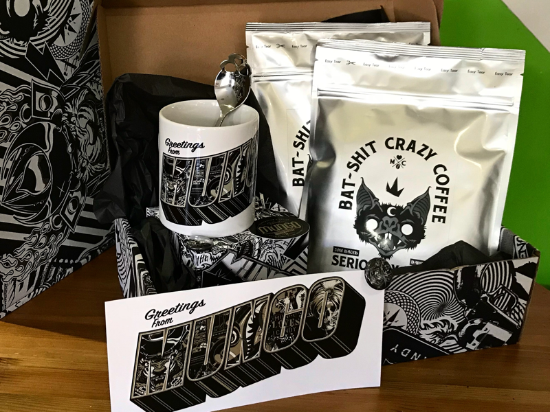 This years client gift caffeine christmas physical product illustration packaging logo branding coffee gift