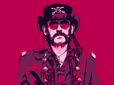 Lemmy rock icon vector illustration portrait music motörhead lemmy