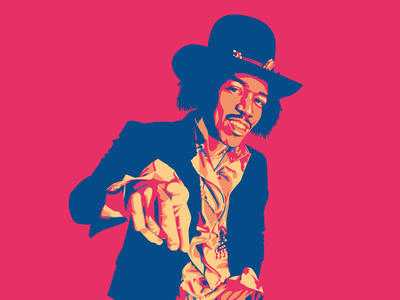 Are you experienced? icon vector illustration portrait jimi hendrix