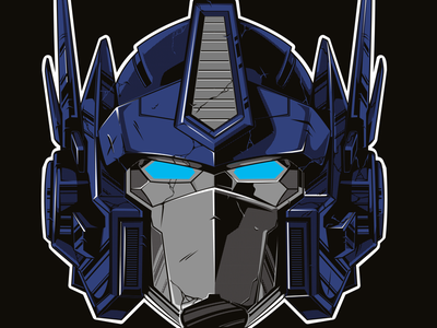 Optimus prime transformers autobot optimus prime illustration vector