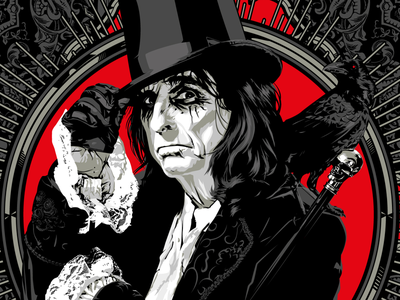 Alice limited colour rock icon alice cooper illustration vector practice