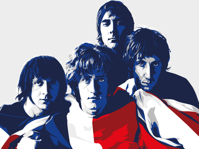 Who are you? british i wont get fooled again illustration vector practice the who