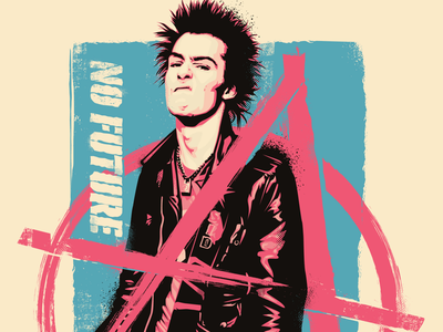 Vicious practice illustration rocktober vector sid vicious