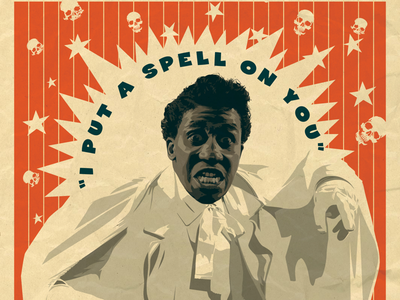 Screaming jay Hawkins rocktober poster art vector illustration practice