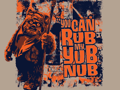 Hub nub star wars silly yum nub vector wicket ewok