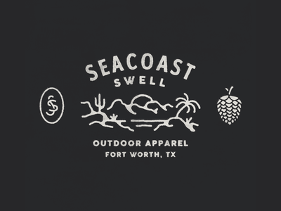 for Seacoast Swell graphic design illustration hand drawn vintage hand made branding design