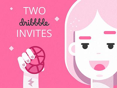 Dribbble invites invitation invite giveaway vector illustration free shot invites