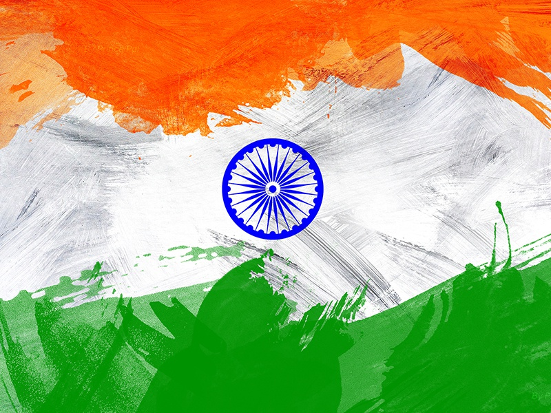 Creative Watercolor Indian Flag Background For Indian: Indian Flag Wallpaper By Think 360 Studio