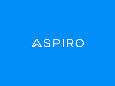 Aspiro Logo aspiro icon design branding logo design minimal branding minimal brand minimal logo minimalistic logo