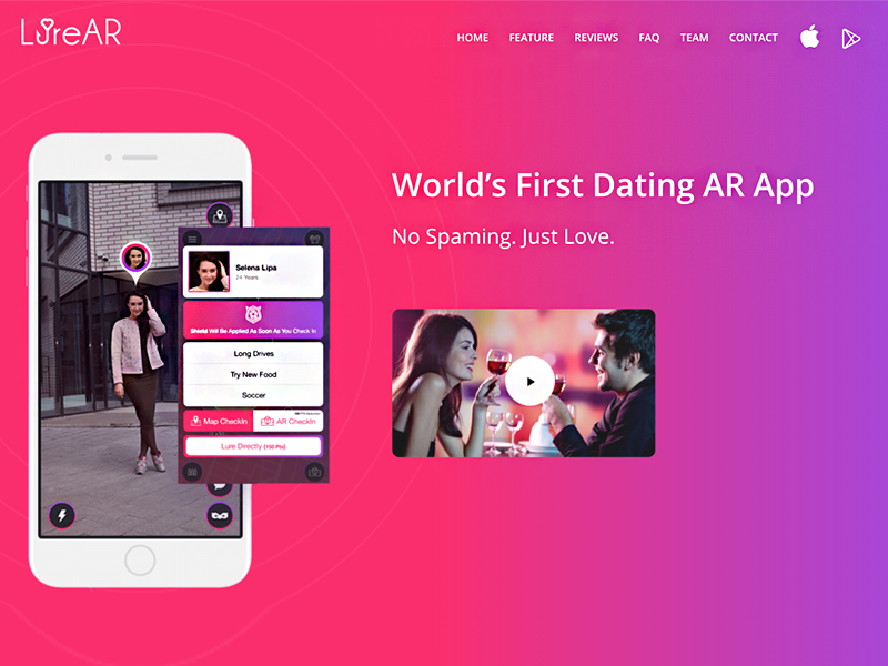 AR dating app