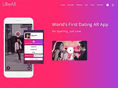 AR Based Dating App minimal brand ui design minimal design app datinglandingpage landingpage datingapp ardating