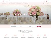 WEDTINGS Website UI