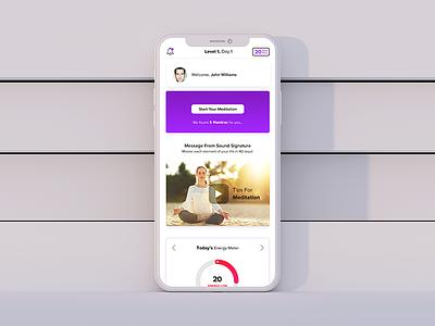 Meditation App UI ui ui  ux iphoneapp uidesign ui  ux design app concept meditation