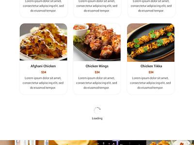 Restourant Website Design ui ux design web design website design