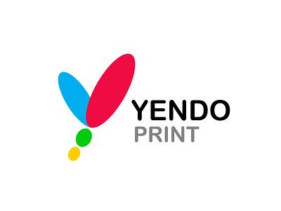 Yendo Print Company Branding branding typography illustration minimal logo icon minimalistic logo minimal branding logo design minimal brand icon design logo 3d logo 2d logo print company branding