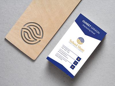 School App Logo & Business Card business card design icon branding illustration minimal logo logo minimalistic logo minimal branding logo design minimal brand icon design