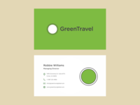 Travel app branding stationary