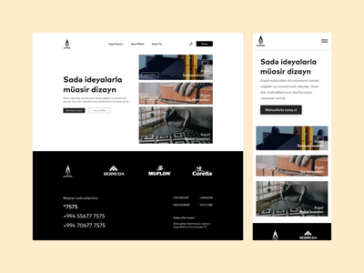 azpol.az   Corporate webpage   UI design clean landing page dark mode white bllack app mobile bussiness corporatee branding ux azerbaijan letif kerim creative design