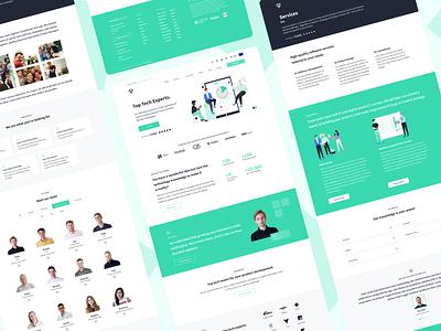 Applover Website Redesign ui ux figma design minimalistic clean design redesign ui web design website illustrations web