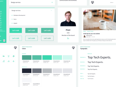 Applover's Style Guide components colors typography webdesign style guide animation logo branding clean design minimalistic design ui ux