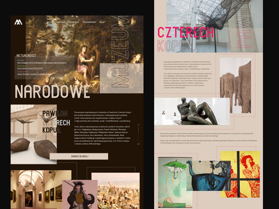 Wrocław National Museum Landing Page concept classic modern design ui ux concept gallery trendy web typography art branding museum