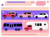Auto blog 🚘 ui icon inspiration car mytsak vector graphic illustration character design flat