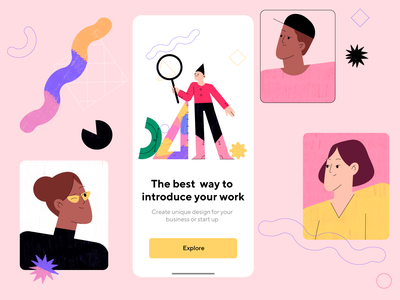 App screen 💡 design app mobile app mobile app ux people girl ui interaction graphic animation illustration character design