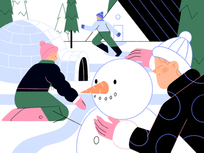 Winter holidays 🎄⭐️ new kids 2021 winter holidays xmas new year girl people graphic design character illustration flat