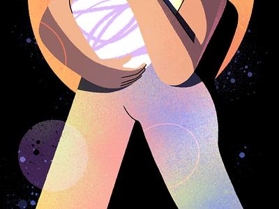 Don't miss your light 🔥 explainer branding ui logo character design woman power girl animation vector graphic character design flat illustration
