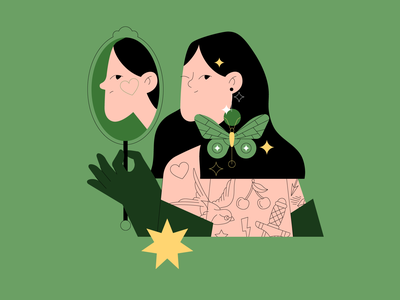 Two individuals 🙂☹️ app graphic design mydribbblecharacter illustrator logo branding ui person woman girl vector graphic design character flat illustration