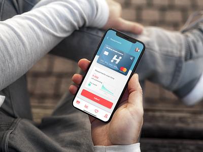Holm Bank UI app design ui interface