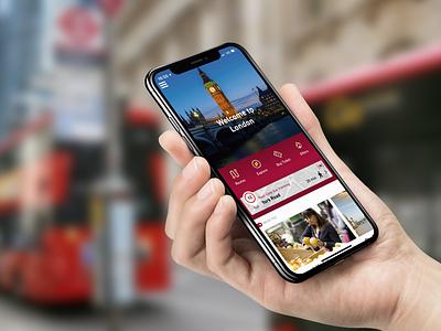 Big Bus Tours ui app interface