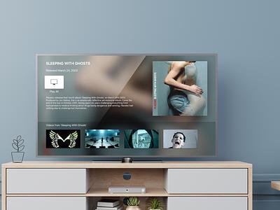 Placebo Apple TV App design ui interface
