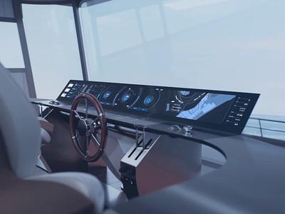 Superyacht HMI yacht design dashboard ui interface