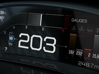 Ford GT HMI car interface ui hmi dashboard