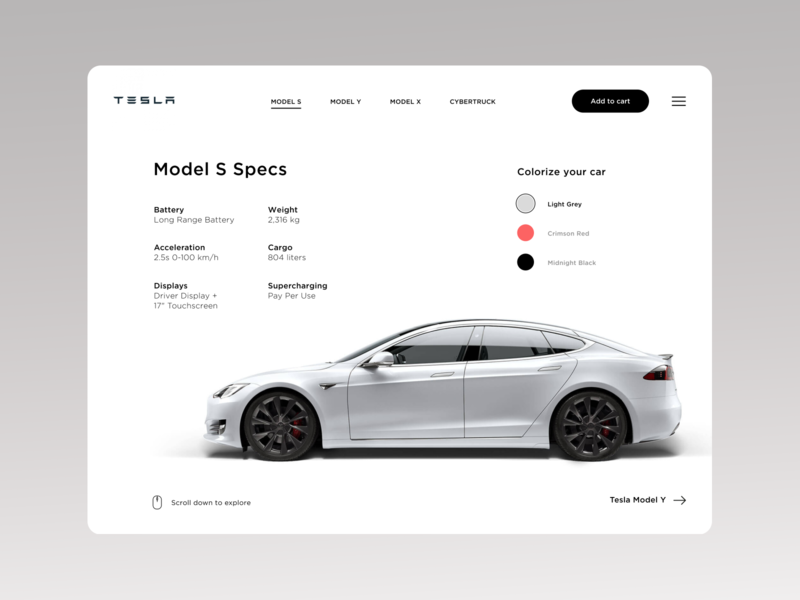 Tesla Model S Display user interface typography car illustration layout ui