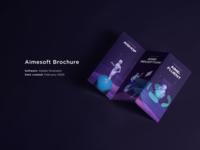 Aimesoft Brochure 3d artificial intelligence technology brochure packaging graphic design